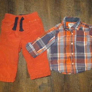 Gymboree pants and shirt toddler boy size 9 months